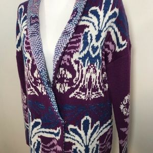 Miami Cardigan Purple & Blue - Size Large